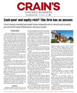 screenshot of crain chicago business article